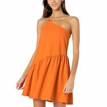 Susana Monaco New One Shoulder Flare Dress Popsicle Medium Photo