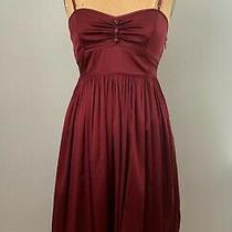 Susana Monaco Silk Dress - Beautiful Deep Red Perfect Condition. Photo