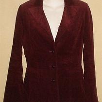 Susana Monaco Wine Corduroy Jacket Blazer Sz 6 Refq Photo
