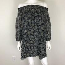 Susana Monaco Womens Size 2 Dress Ls Off the Shoulder Dress Nwt Black Onyx Photo