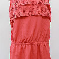 Susana Monaco Womens Trendy Strapless Pink Ruffle Top Size 4  Photo