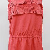 Susana Monaco Womens Trendy Strapless Ruffled Pink Top Size 8 Photo