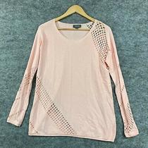 Sussan Womens Top Size Xs Blush Pink Long Sleeve Knit Shirt Stretch 199.20 Photo