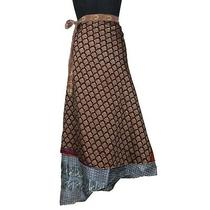 Sw2594 Reversible Vintage Silk Magic Wrap Skirt 38