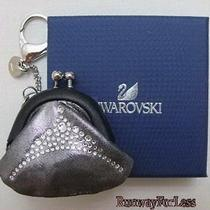 Swarovski 1133651 Signed Relate Gray Bag Charm Keychain Keyring Key Chain Ring Photo