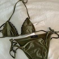 Swarovski Crystal Beach Candy Swimwear Bikini Xs Photo