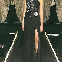 Swarovski Crystal Beaded Black Formal Gown Photo