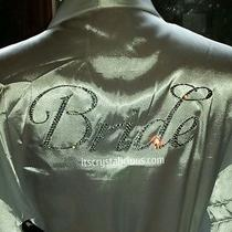 Swarovski Crystal Bling Custom Bride Satin Robe Photo