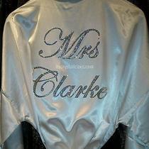 Swarovski Crystal Bling Custom Mrs......... Satin Robe.  Photo