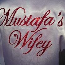 Swarovski Crystal Bling Custom Wifey Satin Robe.  Photo