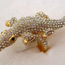 Swarovski Crystal Crocodile Ring Sz7  Photo