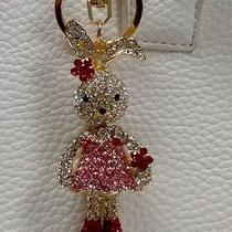 Swarovski Crystal Cute Rabbit Key Chain Purse Charm Key Ring Photo