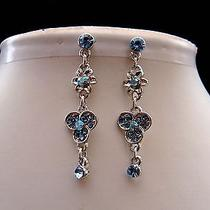 Swarovski Crystal Dangle Earrings  Perfect Gift E1194 Photo