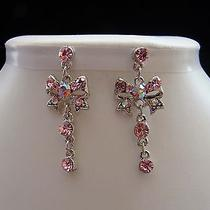 Swarovski Crystal Dangle Earrings  Perfect Gift E1196 Photo