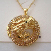 Swarovski Crystal Dragon Necklace  Photo