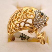 Swarovski Crystal Fish Ring S Photo