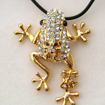 Swarovski Crystal Frog Necklace Photo