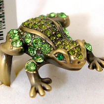 Swarovski Crystal Frog Ring  Photo
