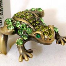 Swarovski Crystal Frog Ring A Photo