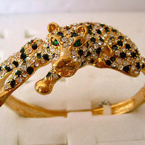 Swarovski Crystal Golden Leopard Bracelet  Photo