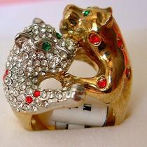 Swarovski Crystal Golden Leopard Ring B Photo