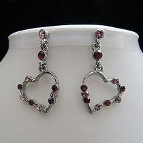 Swarovski Crystal Heart  Earrings  E1185 Photo