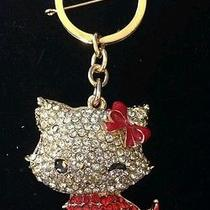 Swarovski Crystal Key Rings Red Kitty or Multi Color Frog Photo