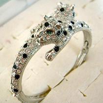 Swarovski Crystal Leopard Bracelet  Photo