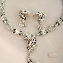 Swarovski Crystal Lion Necklace Set  Photo