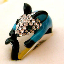 Swarovski Crystal Mouse Ring Photo