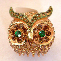 Swarovski Crystal Owl Ring S Photo