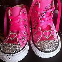Swarovski Crystal Pink Converse Infant Sz 3 Photo