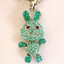 Swarovski Crystal Rabbit Necklace A Photo