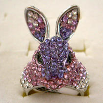 Swarovski Crystal Rabbit Ring  Photo
