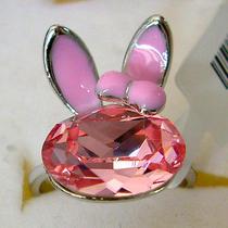 Swarovski Crystal Rabbit Ring  Photo
