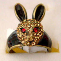 Swarovski Crystal Rabbit Ring A Photo