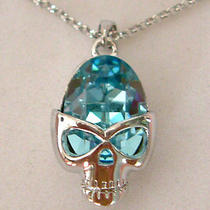 Swarovski Crystal Skull Necklace A Photo
