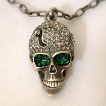 Swarovski Crystal Skull Necklace S Photo
