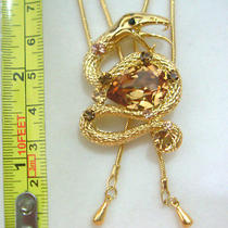 Swarovski Crystal Snake Necklace Photo