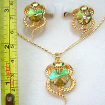 Swarovski Crystal Snake Necklace Set S Photo