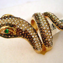 Swarovski Crystal Snake Ring  Photo