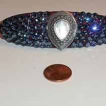 Swarovski Crystal & Teardrop Mother of Pearl Jewel Barrette Handmade Photo