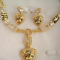Swarovski Crystal Tiger Necklace Set  Photo