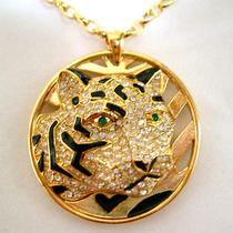 Swarovski Crystal Tiger Necklace T Photo