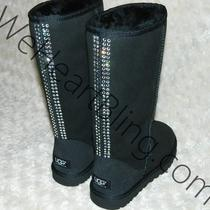 Swarovski Crystal Ugg Boots Size 6 Photo