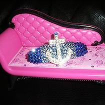 Swarovski Crystals & Anchor Jewelry Barrette Blues Ahoy Photo