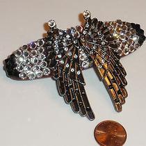 Swarovski Crystals & Angel Wings Jewelry Barrette Handmade & Heavenly Photo