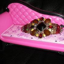 Swarovski Crystals & Antique Fall Colored Gems Jewelry Barrette Classic Photo