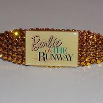 Swarovski Crystals & Barbie on the Runway Jewelry Yellow Barrette Handmade & Stu Photo