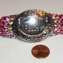 Swarovski Crystals & Believe Metal Jewelry Barrette Handmade & Fabulous Photo